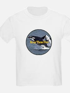 Dolphins Keep Them Free T-Shirt