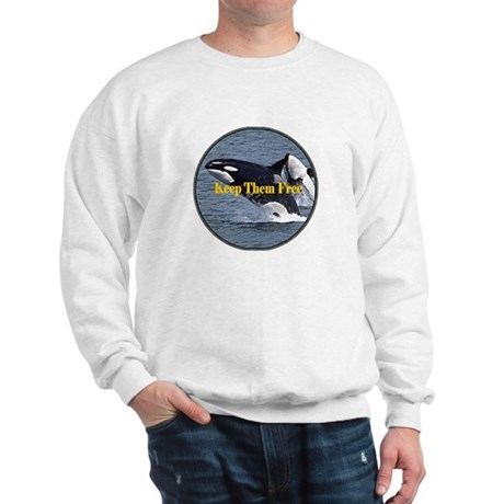 Dolphins Keep Them Free Sweatshirt