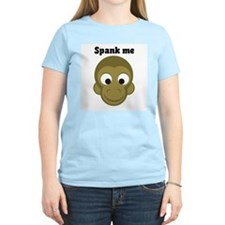 Hunky Monkey ~ Spank Me Women's Pink T-Shirt