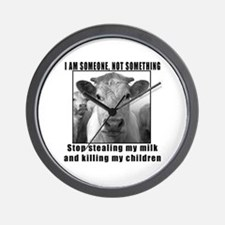 Quit beef and dairy!!! Wall Clock