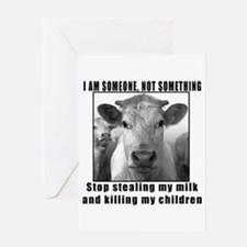 Quit beef and dairy!!! Greeting Card