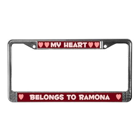 My Heart: Ramona (#007) License Plate Frame