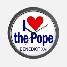 I Love Pope Benedict Wall Clock