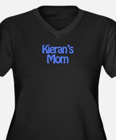 Kieran's Mom Women's Plus Size V-Neck Dark T-Shirt
