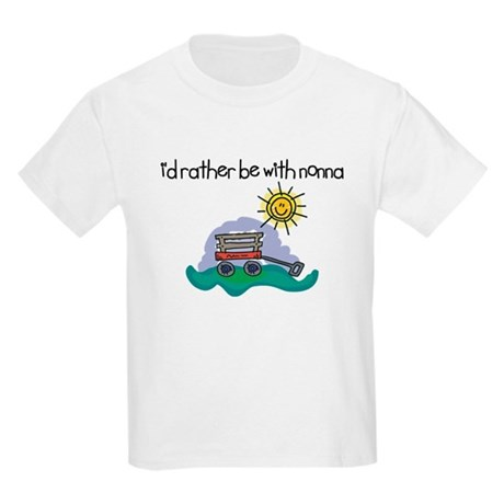 I'd Rather be with Nonna Kids Light T-Shirt