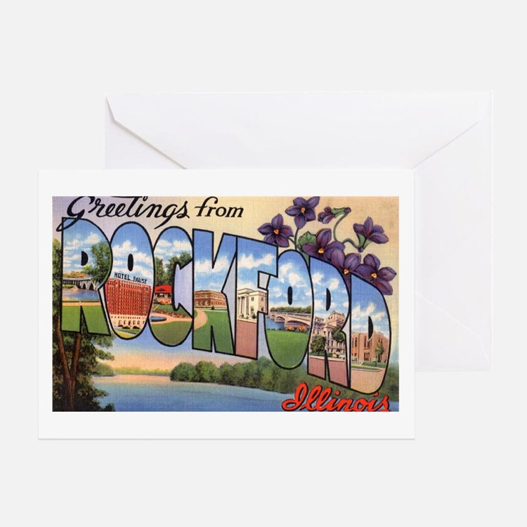 Rockford Illinois Greetings Greeting Card