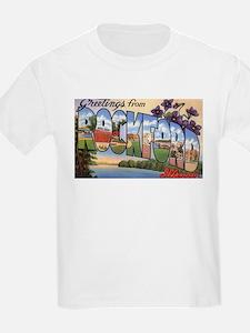 Rockford Illinois Greetings (Front) T-Shirt