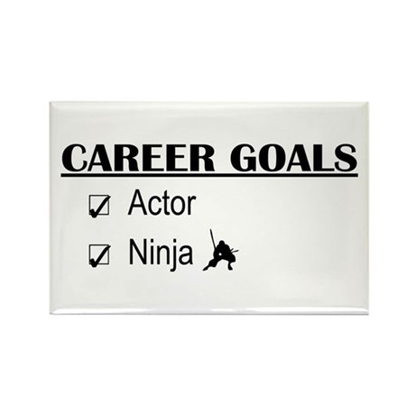Actor Career Goals Rectangle Magnet