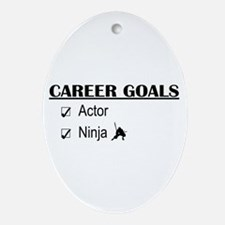 Actor Career Goals Oval Ornament