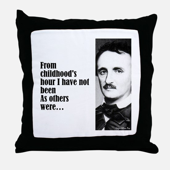 "Poe ""Childhood's Hour"" Throw Pillow"