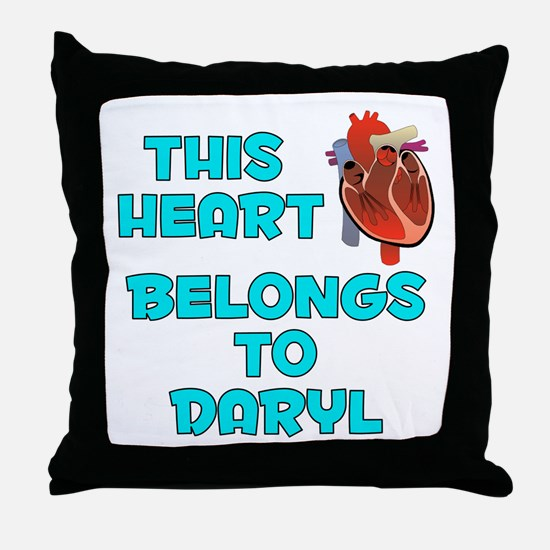 This Heart: Daryl (B) Throw Pillow