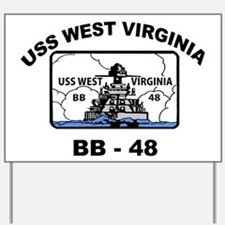 USS West Virginia BB 48 Yard Sign