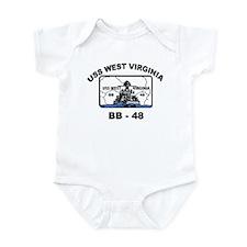 USS West Virginia BB 48 Infant Bodysuit
