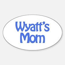 Wyatt's Mom Oval Decal