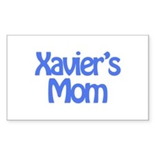 Xavier's Mom Rectangle Decal