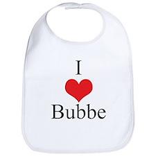 I Love (Heart) Bubbe Baby Bib