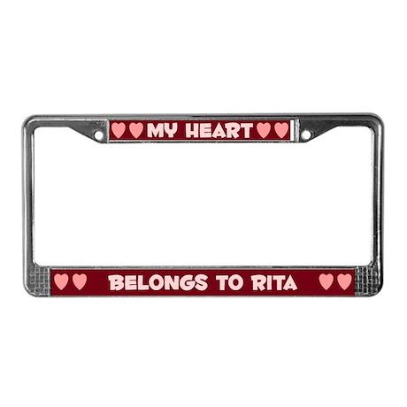 My Heart: Rita (#007) License Plate Frame
