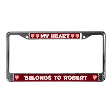 My Heart: Robert (#007) License Plate Frame