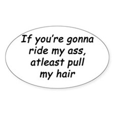 Pull my hair Oval Decal