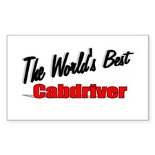 """""""The World's Best Cabdriver"""" Rectangle Decal"""