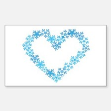 Snowflake Heart Decal