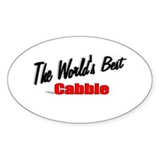 """""""The World's Best Cabbie"""" Oval Decal"""