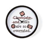 Anti Valentine Chocolate Lover Wall Clock