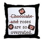 Anti Valentine Chocolate Lover Throw Pillow