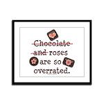 Anti Valentine Chocolate Lover Framed Panel Print