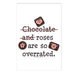 Anti Valentine Chocolate Lover Postcards (Package