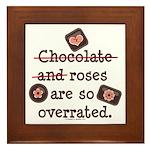 Anti Valentine Chocolate Lover Framed Tile