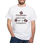 Anti Valentine Chocolate Lover White T-Shirt