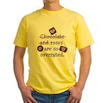 Anti Valentine Chocolate Lover Yellow T-Shirt