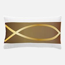 Christian Fish Gold Pillow Case