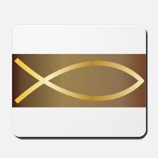 Christian Fish Gold Mousepad