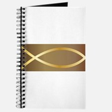 Christian Fish Gold Journal