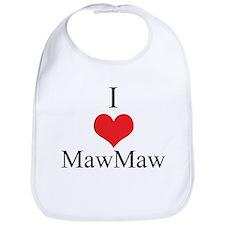 I Love (Heart) Maw Maw Bib
