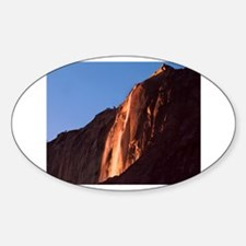 Horsetail Falls Oval Decal