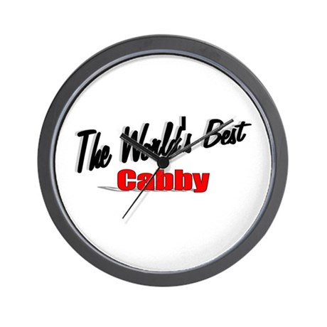 """""""The World's Best Cabby"""" Wall Clock"""