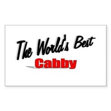 """""""The World's Best Cabby"""" Rectangle Decal"""