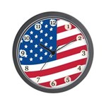 Stars and Stripes Wall Clock