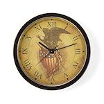 Vintage Bald Eagle Wall Clock