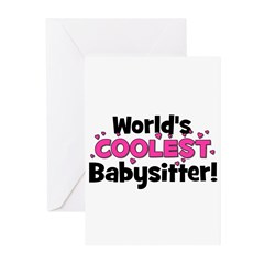 World's Coolest Babysitter! Greeting Cards (Pk of