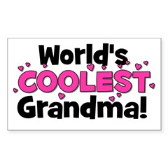 World's Coolest Grandma! Rectangle Decal