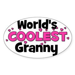 World's Coolest Granny! Oval Decal