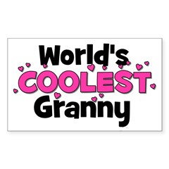 World's Coolest Granny! Rectangle Decal