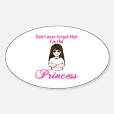 I'm the Princess (P.L.) Oval Decal