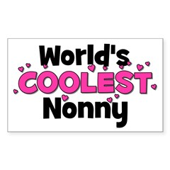 World's Coolest Nonny! Rectangle Decal
