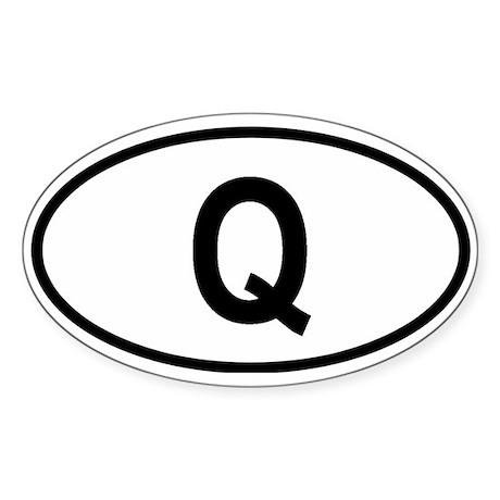 Qatar Oval Sticker