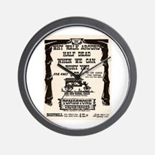 Tombstone Undertakers Wall Clock